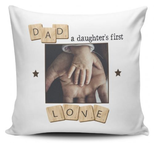 Personalised Dad, A Daughter's  First Love  Cushion Cover